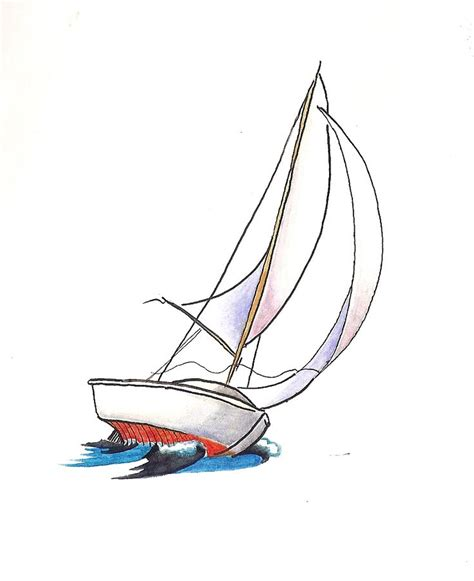 How To Draw A Mini Boat by Best 25 Sailboat Drawing Ideas On Boat