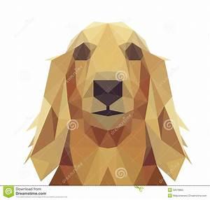 Low Poly Geometric Dog Design Stock Vector - Illustration ...