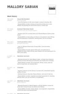 merchandiser manager resume template visual merchandiser resume sles visualcv resume sles database