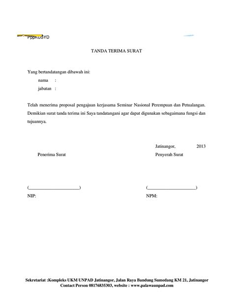 Contoh Surat Tanda Terima Uang Doc Dokviral