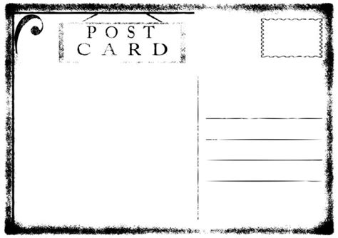 blank postcard remember the postcards depositphotos