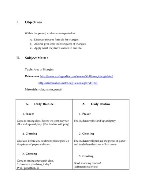 final lesson plan  math  approach