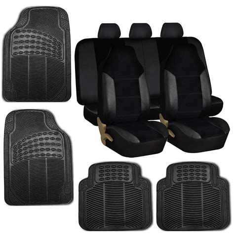 floor mats and seat covers car seat covers set for auto w floor mat black for sale