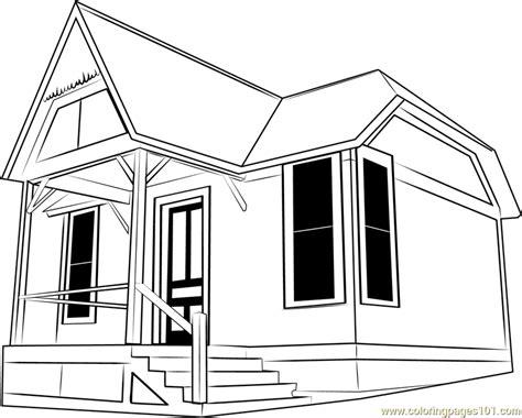 cottage coloring page  cottage coloring pages coloringpagescom
