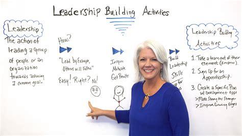 leadership building activities projectmanagercom