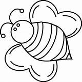 Bee Coloring Bumble Pages Bees Bumblebee Queen Cute Fat Drawing Template Print Clipart Printable Bumblebees Cliparts Clip Honey Find Templates sketch template