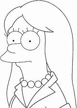 Marge Coloring Smooth Simpson Short sketch template