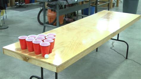 homemade beer pong table diy beer pong table crafty pinterest