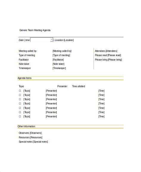 team meeting agenda template 10 team meeting agenda templates free sle exle format free premium templates