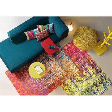 tapis jaune ikea grand tapis rond en laine avec dessin
