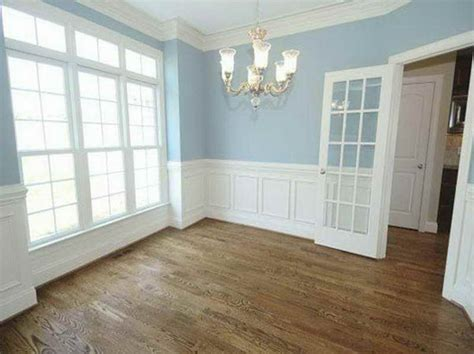 Raised Panel Wall Molding by Raised Panel Wainscoting With Blue Colour My