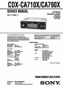 Sony Cdx-ca710x  Cdx-ca790x Service Manual