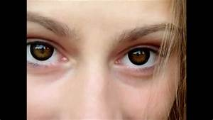 Natural ring contact lenses on brown eyes. - YouTube