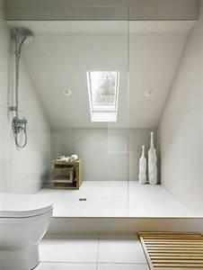 douche italienne sous pente de toit 1 comment With comment peindre une salle de bain