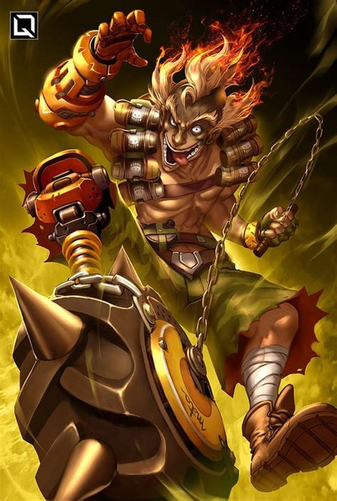 Amazing Junkrat Overwatch By Fan Art Junkrat Overwatch