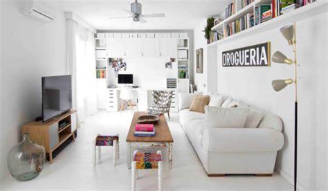 piso decorado en blanco de estilo retro vintage