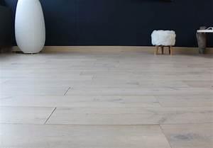 Parquet Chene Blanchi : parquet chene blanchi 18 x 150 mm massif clipsable ~ Edinachiropracticcenter.com Idées de Décoration