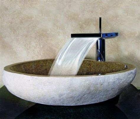 Bathroom Sinks Vessel Bowls by Yosemite Home Decor Carved Boulder Vessel Sink Sand