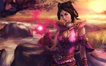 Fantasy Desktop Woman Wallpapers Female Smiling Warrior