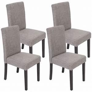 Lot de 4 chaises de salle a manger fauteuil littau for Salle À manger contemporaineavec lot chaises