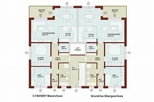 Doppelhaus Grundriss Beispiele : favorit massivhaus ~ Lizthompson.info Haus und Dekorationen