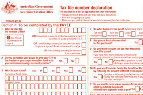 ato tfn application form c 225 ch đăng k 253 m 227 số thuế tfn v 224 những điều du học sinh