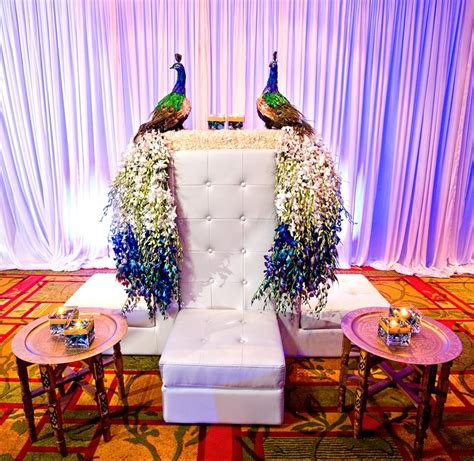 peacock setting weddings peacocks decoration and wedding