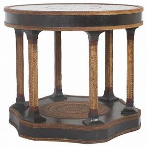 Maitland smith round rope table at 1stdibs for Round rope coffee table