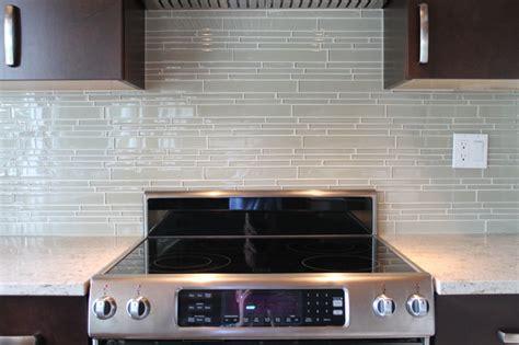 mosaic tile for kitchen backsplash sheep s wool beige linear glass mosaic tile kitchen backsplash contemporary kitchen