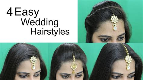easy hairstyles  wedding hairstyle  maang tikka