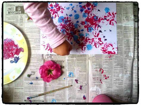 cuisiner avec des fleurs peindre avec des fleurs bricolage printemps printemps