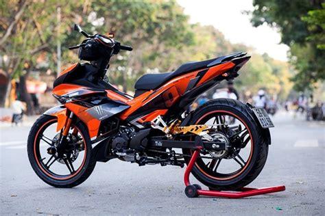 Modif Jupiter Z Orange by Modifikasi Yamaha Exciter Orange Black Nih Buat Inspirasi