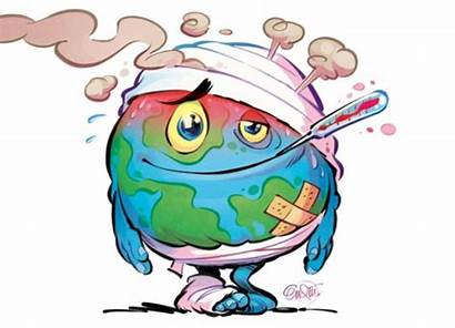 Warming Global Clipart Cartoon Drawing Poster Environment