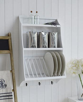 white kitchen plate rack  plates  shelf  white lighthouse diy storage rack plate