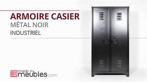 Casier Industriel Metal : armoire casier metal noir industriel youtube ~ Teatrodelosmanantiales.com Idées de Décoration