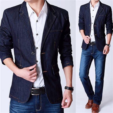 blazer homens jeans popular buscando e comprando