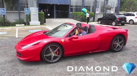 ferrari  spider entregue em brasilia pela diamond cars