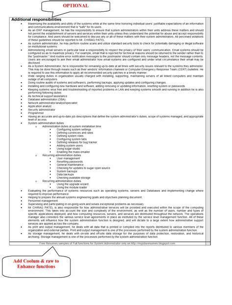 resume sles for network administrator fresher seventh