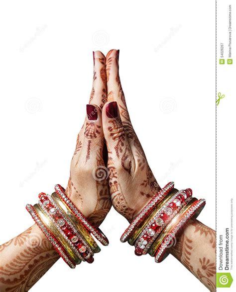 namaste mudra stock photo image