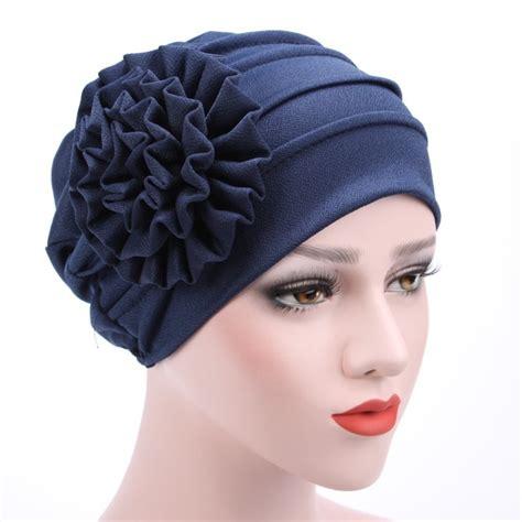 2017 Women's Hats Spring Summer Floral Beanie Hat Muslim