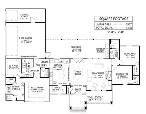 House Plan 41402 Traditional Style with 1967 Sq Ft 3