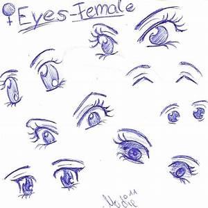 my 7 favourite Ways to draw Female Cartoon Eyes by ...