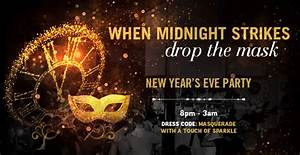 Wine Glass Design New Years Masquerade Party West End London Fun Time