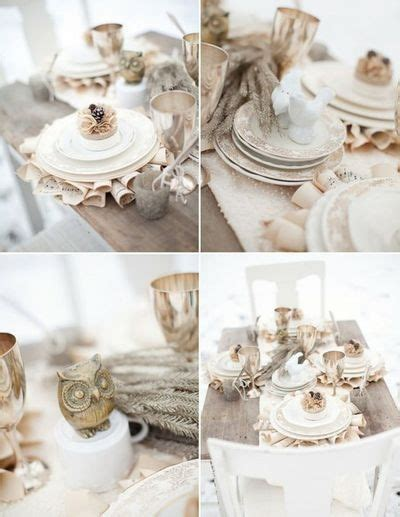 shabby chic wedding table settings shabby chic table setting my dream winter wedding pinterest