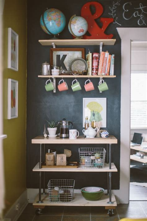 This diy coffee station is easy to create in a corner of your kitchen and will make your morning coffee or tea ritual so special! 30 Charming DIY Coffee Station Ideas for All Coffee Lovers   Homelovr