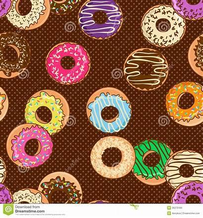Donuts Pattern Colorful Seamless Cartoon Dot Polka