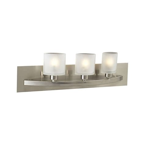 All Modern Bathroom Lighting by Modern Bathroom Light With White Glass In Satin Nickel