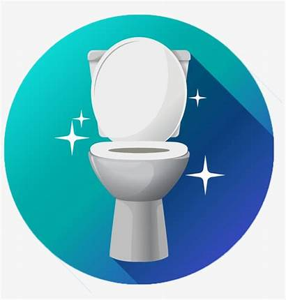 Toilet Clean Sparkling Vector Bowl Bathroom Transparent