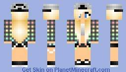 Girl with cap Minecraft Skin