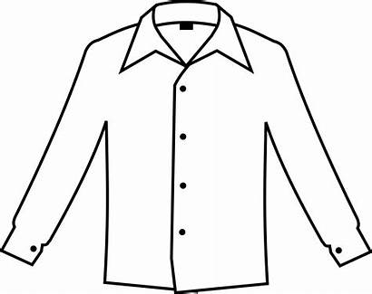 Clipart Shirt Clip Drawing Transparent Shirts Simple